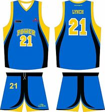 20Custom sublimation basketball jersey uniforms complete set for teams and clubs
