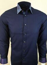 Textured Cotton Blend Button Cuff Formal Shirts for Men