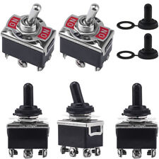 5x 3 Position 6 Terminal Onoffon Dpdt Toggle Switchwaterproof Boot 15a 250vac