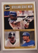 2003 Upper Deck Vintage Stellar Stat Man Luis Castillo Juan Pierre Dave Roberts