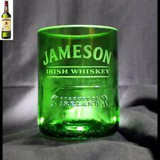 Jameson Irish Whiskey rocks glass made from original 1 liter Jameson bottle
