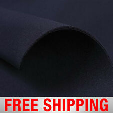 Neoprene Scuba Techno Athletic Double Knit Fabric. Navy. Free Shipping.