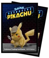 Ultra Pro 65x Pokemon Detective Pikachu Card Sleeves / Karten Hüllen Neu/OVP
