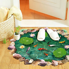 US 3D Cute Lotus Floor Wall Sticker Removable Mural Decals Art Decor Living Room
