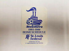 St. Louis Steamers 1985/86 MISL Indoor Soccer Pocket Schedule Card