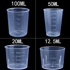 Kitchen Baking/Medicine Lab Graduated Clear Scales Liquid Measuring Cup Tool Lot