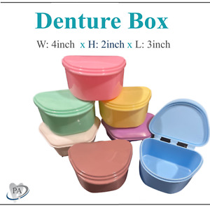 Dental Denture Box Retainer Box Carrier 4W x 2in x 2in Upto 200 Retainers/Case