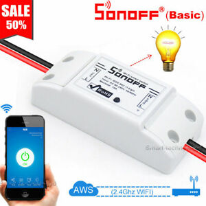 Sonoff Switch Relay Module Timer Smart WiFi Wireless Remote For iphone & Android
