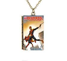 New Miniature Cartoon Cover Deadpool Suicide Kings TINY Book Pendant Necklace