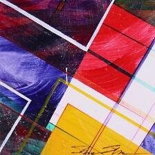 ShawNshawN Original Painting - Geometric Abstract - Purple Orange Red - Square