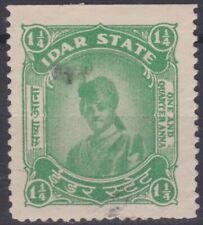 Indian States: 1945 Idar: SGF5b 1 1/4 anna blue-green. Used.