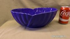 "2015M Vtg Modele Depose ITALY Cobalt Blue Large 12"" Bowl Centerpiece OVAL  A+++"