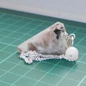 Auction Rainbow Moonstone Point Dowsing Pendulum Gemstone Crystal Dowser