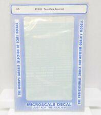 MICROSCALE DECAL'S #87-235 ~ HO SCALE ~ TANK CARS ASSORTED  ~ NIP