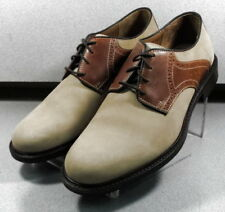 592570 MS50 Men's Shoes Size 10 M Beige Leather Lace Up Johnston & Murphy