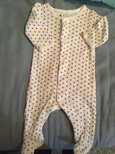 Baby Gap Starred Footed Romper One Piece Size Up to 7Lbs Preemie/Nb
