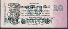 Billete Alemania 20 millones de P97b 1923 AUNC 6 dígitos serial # 1/2 tipos este Pick