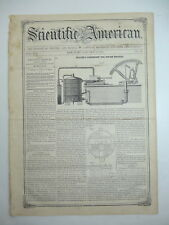 Steam Engine Condenser, Harvester w/ Horses, Self-Act Inkstand, Old Article 1858