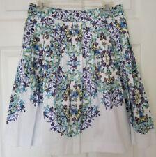 NWT Sz 6P Talbots Floral Print, Cotton & Spandex, A-Line Skirt, Machine Wash
