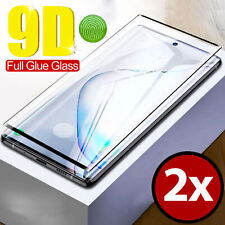 2x 9D Full Glue Safety Glass Samsung Galaxy Note 10 Plus Film 9H Protection