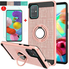 For Samsung Galaxy A51 A71 Stand Hard Shockproof Cover Case W/ Screen Protector