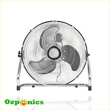 HYDROPONICS 500MM GROWLUSH INDUSTRIAL FLOOR FAN 150W Premium 3 Speed With Stand