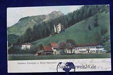 alte AK Gasthaus Schweigen und Ruine Katzenstein (Tirol) Österreich 1905