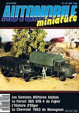 Automobile Miniature   N°49   juin 1988: Camions militaires bachés Ferrari 365 g