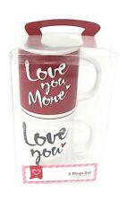 Coffee Mug Set - Tea Cups - Love You, Love You More