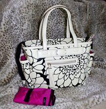 NwT KATE SPADE NEPTUNE AVENUE COAL BABY DIAPER BAG canvas handbag cream black