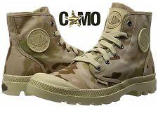 Men Multi-Cam Desert Camo Canvas Boots Palladium Yeezy 950 Fire Hip Hop Style