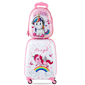 Reisekoffer Kinder Koffer Trolley Hartschalenkoffer Handgepäck 4Rollen M-L Set
