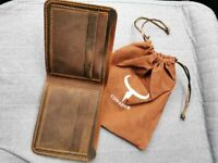 me Dark Brown /& Coffee 5003-A Silver /& Gold Concho - Leather New Wallet