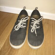 Sanuk Gray Canvas Lace-Up Shoes Men's Size 10 Slightly Used