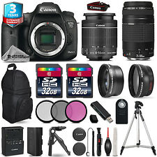 Canon EOS 7D Mark II Camera + 18-55mm  + 75-300mm III + 3PC Filter +3yr Warranty