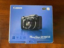 Canon PowerShot SX160 IS 16.0MP Digital Camera - Black (6354B001)