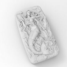 Mermaid Mold Soap Mold Flexible Silicone Soap Making Mould DIY Wax Resin Mold