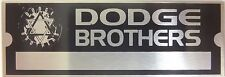 Dodge Brothers Body Vin Model Trim Number Plate Serial Tag Paint Code Chrysler