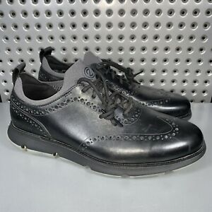 Cole Haan 4.Zerogrand Wing Tip Oxford Black Men's 9.5W US Style #C33452