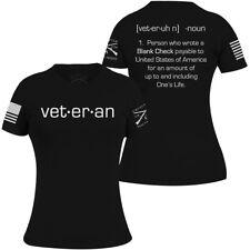 Grunt Estilo para Mujer de cheque en blanco cuello redondo Camiseta-Negro