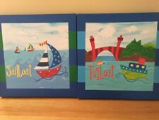 Nautical Nursery Wall Decor Wall Hangings Boats Prints Canvas Art