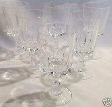 Belle série de six verres à vin blanc Porto en cristal d'Arques service Louvre
