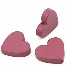 Holzperlen Perlen durchbrochene Herz Blumen Anhänger Ohrringe 6Stück KD109-115