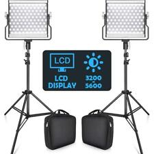 2PACK TRAVOR Dimmable Bi-Color LED Video Light Studio Lights Video Lighting Kits