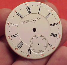 VINTAGE DOUBLE SUNK ROCKFORD JEWELERS C L TAYLOR 16 SIZE Pocket Watch DIAL