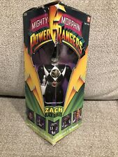 1993 Mighty Morphin Power Rangers Zach Black Ranger Action Figure Bandai CIB