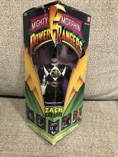 1993 Mighty Morphin Power Rangers Zach Black Ranger Action Figure Bandai CIB