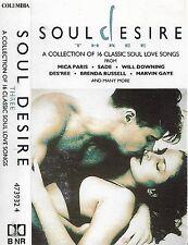 Various Soul Desire, Vol. 3 CASSETTE ALBUM 16 Soul Love Songs Sade Des'ree Gaye