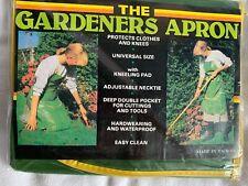 Garden Apron Waterproof Green Gardeners Tool Kneeler Universal Size