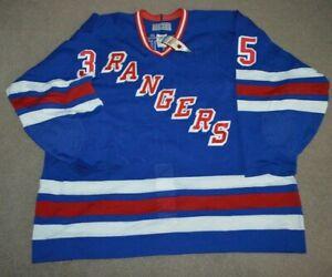 Vtg NWT Mike Richter New York Rangers CCM AUTHENTIC AUTOGRAPHED Jersey 56